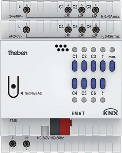 Theben KNX Heizungsaktor 6-fach, o.Erweiter. HM 6 T KNX