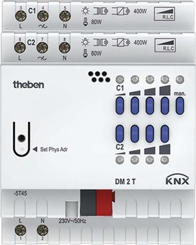 Theben KNX Dimmaktor 2-fach, o.Erweiter. DM 2 T KNX