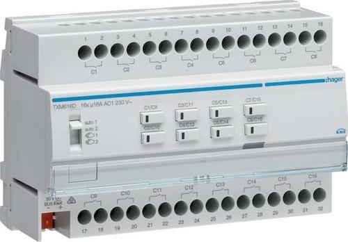 Hager Schalt-/Jalousieausgang KNX 16/8f,16A C-Last TXM616D