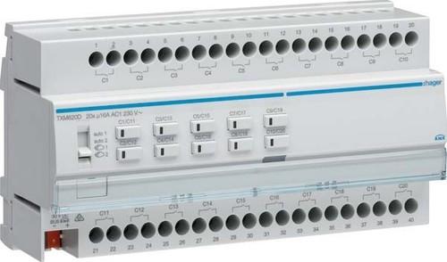 Hager Schalt-/Jalousieausgang KNX 20/10f,16A CLast TXM620D
