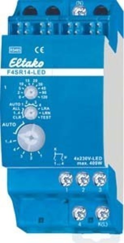 Eltako Funk-Stromstoßrelais RS485, 4 Kanal F4SR14-LED