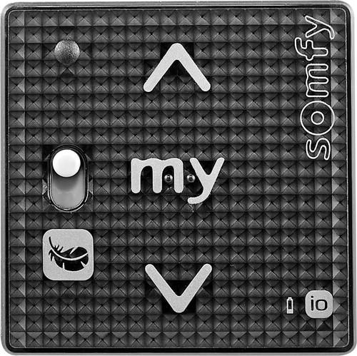 Somfy Funkwandsender io Black Shine Smoove RS100#1811316