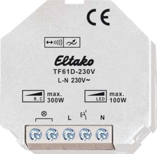 Eltako Tipp-Funk Dimmaktor bis 200W TF61D-230V