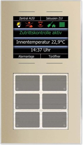 Issendorff Glas-Tastenfeld 10 Tasten, champagn. LCN - GT10DC