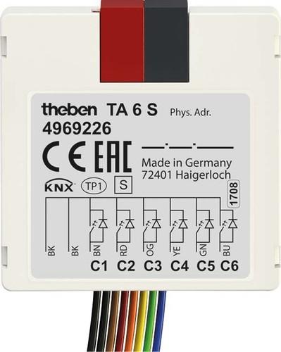 Theben Tasterschnittstelle 6 S KNX,UP TA 6 S KNX