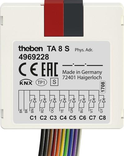 Theben Tasterschnittstelle 8 S KNX,UP TA 8 S KNX