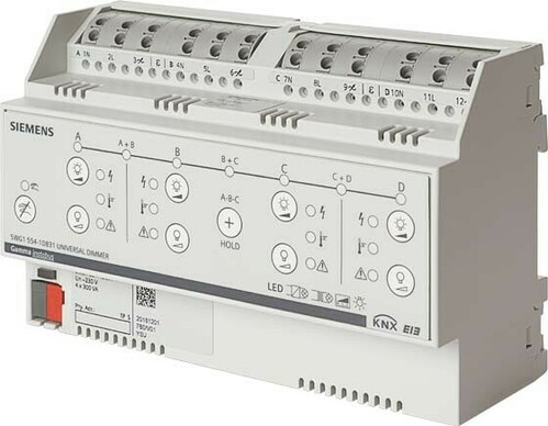 Siemens Indus.Sector Universaldimmer 4x300VA / 1x1000VA 5WG1554-1DB31