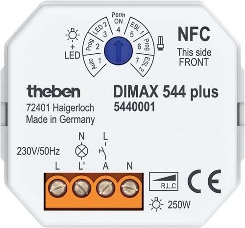 Theben UP-Dimmer APP bedienbar f. ESL/230V +LED-Lp. DIMAX 544 plus P