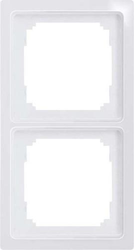 Eltako 2-fach-Universalrahmen glänzend weiß R2UE55-gw