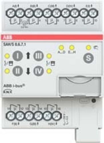 ABB Stotz S&J Schalt-/Jalousieaktor 8fach 6A, REG SAH/S8.6.7.1