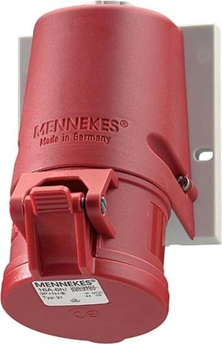 Mennekes Wanddose TwinCONTACT 32A,5p,6h,400V,IP44 32