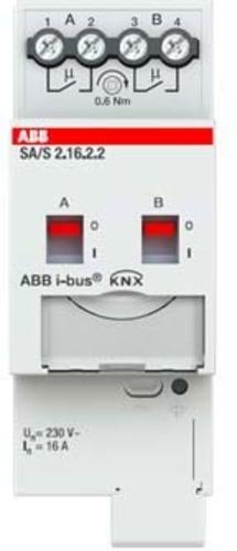 ABB Stotz S&J Schaltaktor 2-fach ch, 16A, REG SA/S2.16.2.2