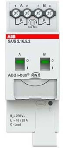 ABB Stotz S&J Schaltaktor 2-fach ch, 16A, C-Last SA/S2.16.5.2