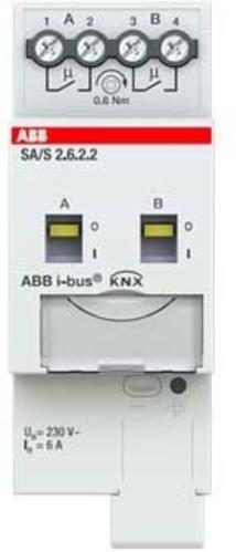ABB Stotz S&J Schaltaktor 2-fach ch, 6A, REG SA/S2.6.2.2