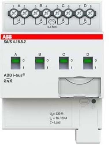 ABB Stotz S&J Schaltaktor 4-fach ch, 16A, C-Last SA/S4.16.5.2