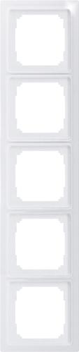 Eltako 5-fach-Universalrahmen reinweiß glänzend R5UE55-wg