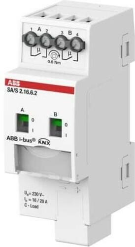 ABB Stotz S&J Schaltaktor 2-fach 16A, C-Last REG SA/S2.16.6.2