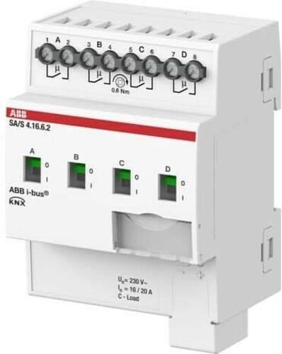 ABB Stotz S&J Schaltaktor 4-fach 16A, C-Last REG SA/S4.16.6.2