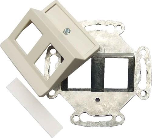 Setec Tragring für XKJ-Modul 2-fach, 50x50, reinweiß TN-XKJ-2M-50-rws