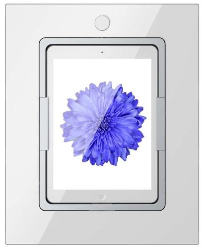 Viveroo iPad Wandhalterung m.Ladefunktion weiß squareClearWhite9,7