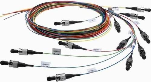 Telegärtner LWL Pigtail-Set 12xLC türkis G50 OM3 TN-PS-12LC-50-OM3