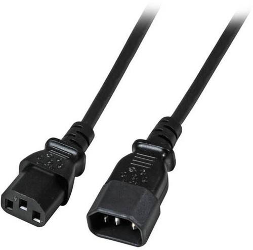 EFB-Elektronik Kaltgeräteverlängerung schwarz 2m IEC C14, IEC C13 EK503.2