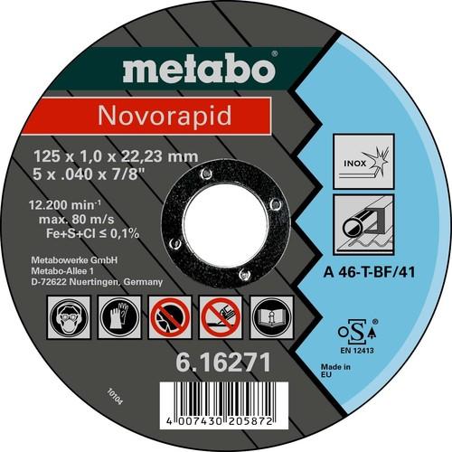 Metabowerke Trennscheibe INOX 125x1,0 x 22,23mm 616271000