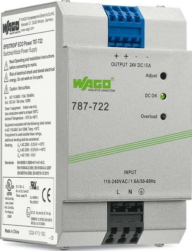 WAGO Kontakttechnik Stromversorgung 24VDC 5A 787-722