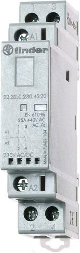 Finder Installationsschütz 24VAC/DC,2S,LED 22.32.0.024.4320