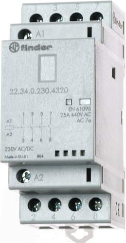 Finder Installationsschütz 230VAC/DC,4S,LED 22.34.0.230.4320
