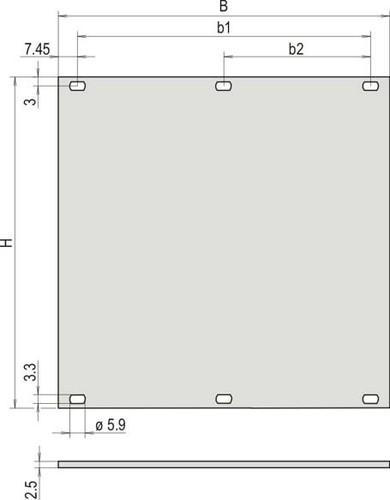 Schroff Teilfrontplatte 30807494