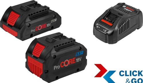 Bosch Power Tools Starter Set +GAL 18V4.0+5.5 1600A0214A