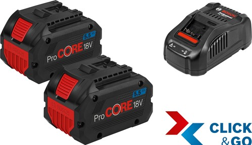 Bosch Power Tools Starter Set +GAL 2xPC18V 5.5 1600A0214C