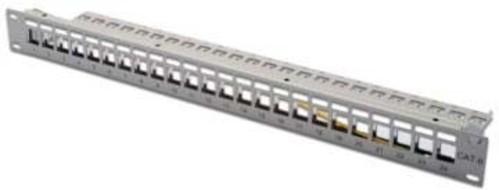 DIGITUS Modular Patch Panel gesch. 24Port,Blank,1HE,gr DN-91410