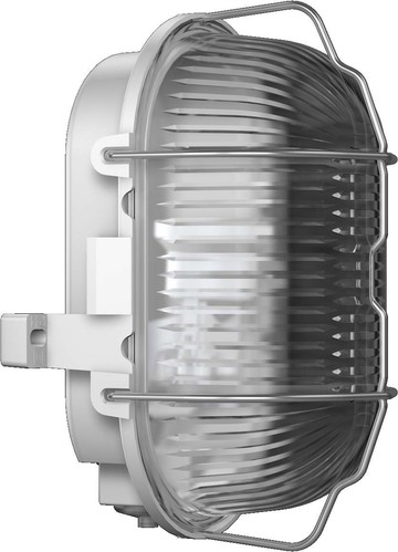 RZB Kunststoff-Ovalleuchte grau A60 60W 50500.009.1