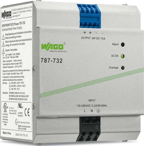 WAGO Kontakttechnik Stromversorgung 24V 10A 787-732