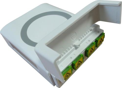 Acome Komponenten FTTH-Aufputz Dose mit Kuppl.4xSC/APC IO1188160401