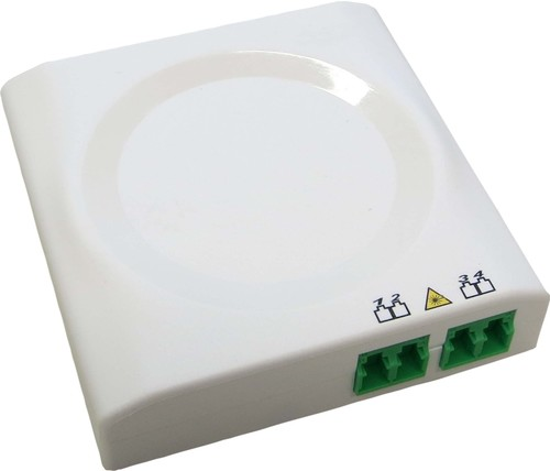 Acome Komponenten FTTH-AP-Dose T1 m. Pigtail 2xLCD/APC reinweiß IO1140670402