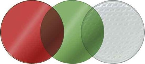ESYLUX Vorsatzscheiben SL P rot, grün, klar SL P COLOURFILTERSET
