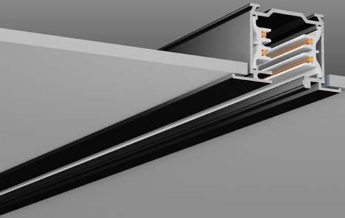 RZB 3Ph-Flügelschiene schwarz 1000mm 701067.003