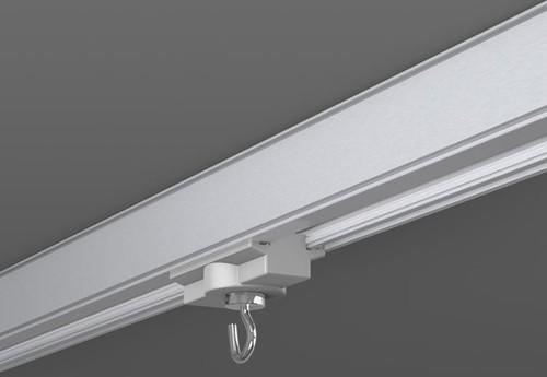 RZB Dekohaken für 3Ph-Schiene silber 701076.004