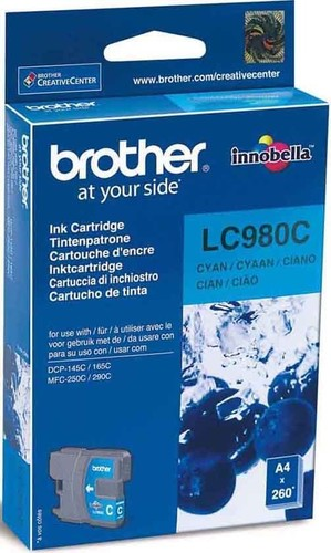 Brother Tintenpatrone cyan LC-980C