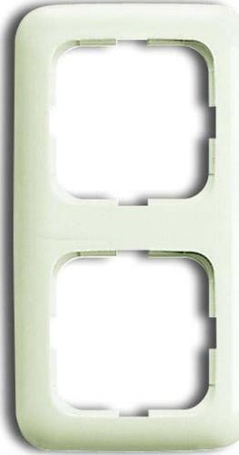 Busch-Jaeger Rahmen 2-fach weiß, senk.+ waage. 2512-212