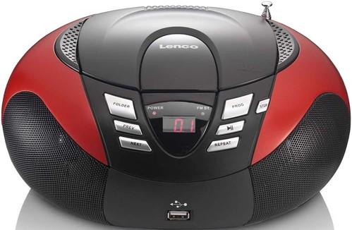 LENCO UKW-Radio m.CD tragbar UKW,rot SCD-37 USB red