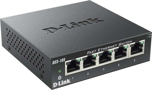 DLink Deutschland 5-Port Switch Layer 2, 10/100Mbit DES-105/E