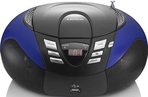 LENCO UKW-Radio m.CD tragbar USB,blau SCD-37 USB blue