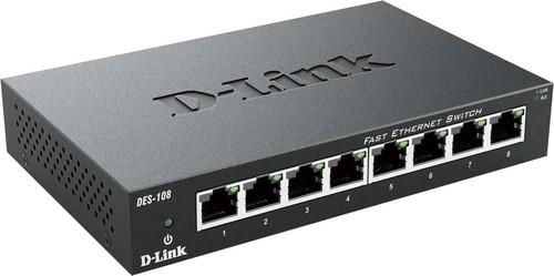 DLink Deutschland 8-Port Switch Layer 2, 10/100Mbit DES-108/E