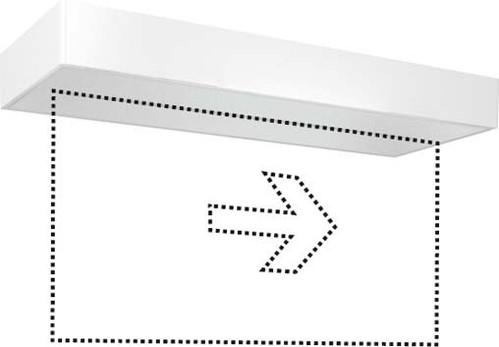 ESYLUX LED-Notleuchte weiß 8h, f.AP-/Deckenmon. SLXELLED #EN10077388