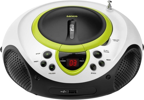 Lenco UKW-Radio CD/MP3 tragbar USB,grün SCD-38 USB green