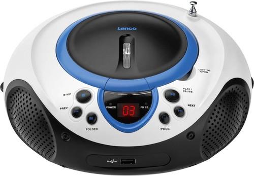 LENCO UKW-Radio CD/MP3 tragbar USB,blau SCD-38 USB blue